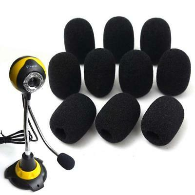 10PCS Microphone Headset Grill Windscreen Sponge Foam Pad Black Mic Cover Hot MT