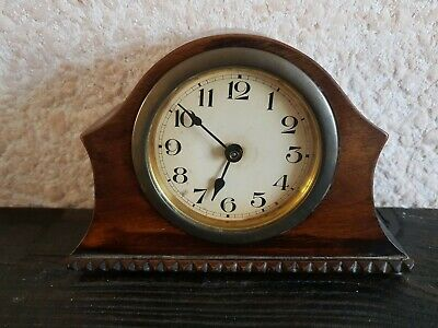 Antique Small Mantel Clock - Working