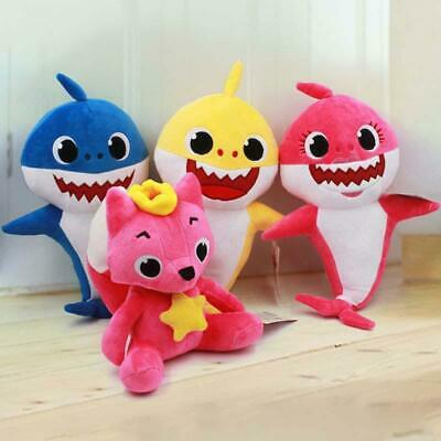 Baby Kids Animal Shark Plush Singing Stuffed Plush Toy Music Doll Song Gift