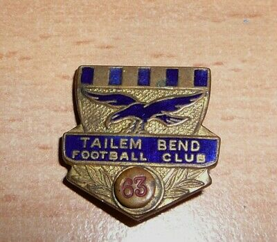 Tailem Bend Football Club 1963 Badge Pin South Australia Collectable