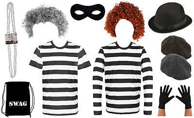 Burglar Pick N' Choose Kids Adult World Book Day Robber Gangster Fancy Dress Lot