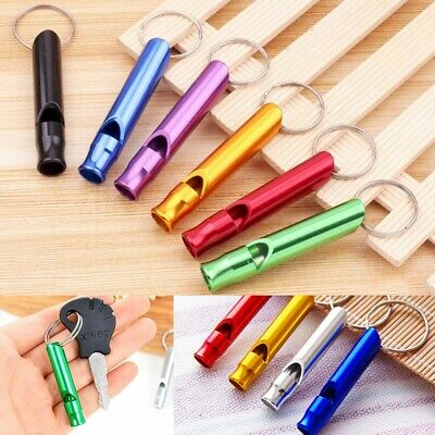 Aluminium Dog Training Whistle Puppy Pet Walking Coloured Recall Pitch Emergency