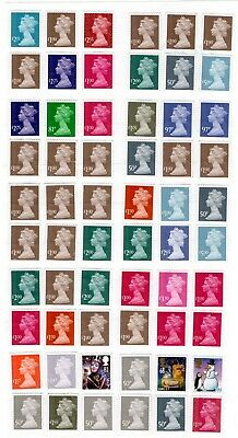 mid to high value unfranked stamps off paper f/v £83.10 (peelable) l2