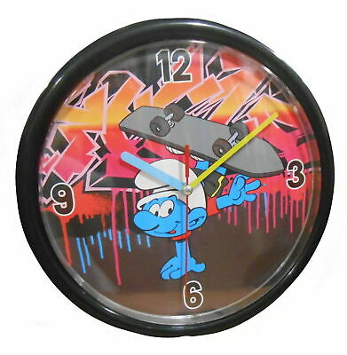 The Smurfs Children's 24cm Wall Clock