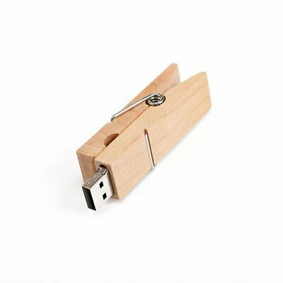 256GB 128GB 64GB 32GB Mini Portable Maple Wood Clamp U Disk Large Capacity Vc