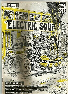 Electric Soup. Scotland's Adult Humour comic. Issue 1 1989