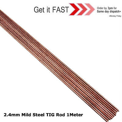 50x 2.4MM TIG WELDING FILLER RODS WIRE ELECTRODES MILD STEEL 1 METRE