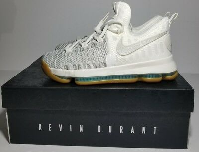 best service 2b763 4018b NIKE ZOOM KD 9 Elite Kevin Durant (GS) Pale Grey Ivory Youth 855908