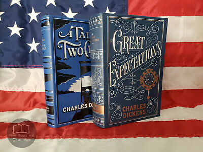 NEW A Tale of Two Cities & Great Expectations by Charles Dickens Bonded Leather