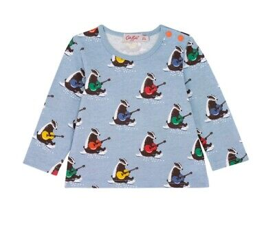 Cath Kidston Musical Badgers Long Sleeved Tee Shirt Age 12-18 months