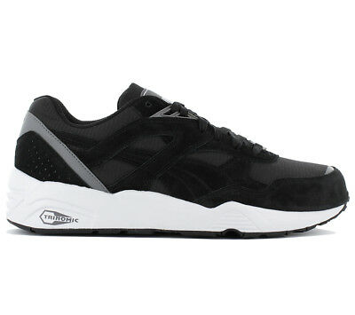 6255ba2dadf Puma Trinomic R698 Shoes Men s Sneakers Trainers Blaze Black New 362570-01