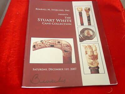Kimball Sterling 12/01/07 Walking Cane Collection auction Catalog