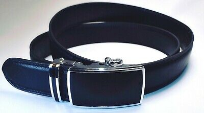 Men's Leather Ratchet Dress Belt 35mm Adjustable Size Up to 42-NEW LOW PRICE!