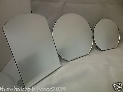 Plastic Safety Acrylic Mirror Standing Vanity Bathroom Bedroom Schools Nurseries