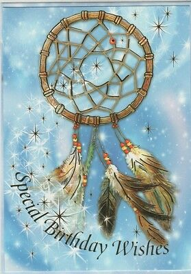 Native American Dream Catcher Birthday Greeting Card New With Envelope
