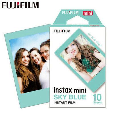 Fuji Instax Mini Sky Blue Film for Mini 8 7s & Mini 90, 50 Cameras (10 shots)