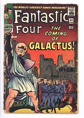 Fantastic Four #48 Vol 1 Nice Lower Grade 1st Silver Surfer Missing 2 Ad Pages