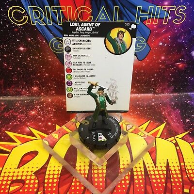 Marvel Heroclix LOKI, AGENT OF ASGARD 050 The Mighty Thor NM Super Rare!
