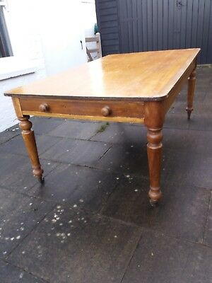 Antique Pine Solid Wood Large Farmhouse Kitchen Dining Table 160l x 98w x72h