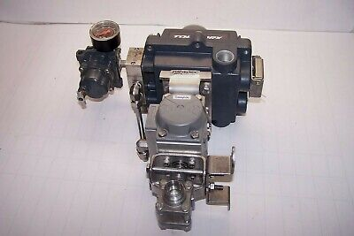 """Stainless 0.515"""" Pneumatic Actuated Ball Valve Ss-63Ts12-Id Topworx Positioner"""