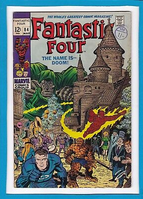 Fantastic Four #84_March 1969_Fine/very Fine_Doctor Doom_Silver Age Marvel!