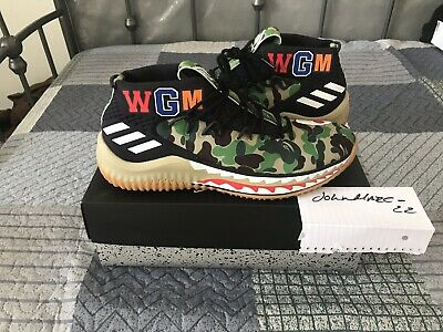 purchase cheap f8f6c ffc18 Adidas Bape Dame 4 IV Green Camo A Bathing Ape Size 10 DSWT 100% Authentic