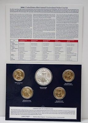2016 United States Mint Annual Uncirculated 5 Dollar Coin Set 89089h