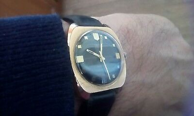 Vintage Smith Rose Gold Hand Winding Watch Made In G.b. Very Good Working...