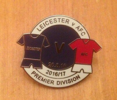 Leicester City V Afc Bournemouth -  Premier League 2016-17 Enamel Pin Badge