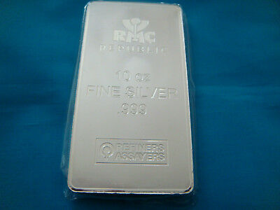 10 oz Republic Metals (RMC) Silver Bar .999 Fine (Mint Sealed) NEW