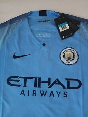Manchester City home shirt 2018/19. New with tags. All sizes. First class post.