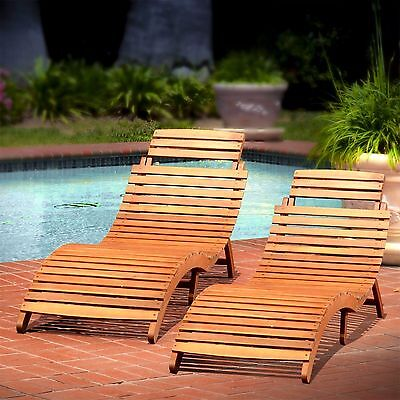 2 Chaise Lounge SancheziaFoldable Tifany Wood Outdoor Chaise  Beachcrest Home