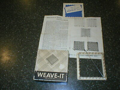 Vintage Weave-It Loom in box with directions & needle Donar Products