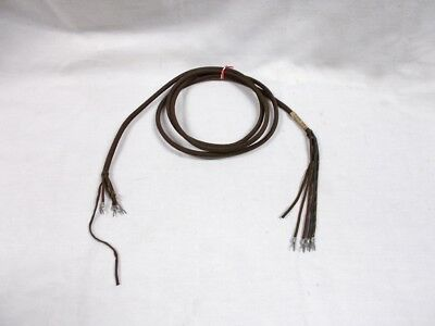 """5' (five foot) 6"""" (six inch) Western Electric Brown Cloth 4 Conductor Cord #675B"""