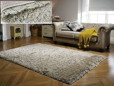 Small - Large Thick Natural Beige Very Long Soft Chunky Pile Luxury Albany Rug