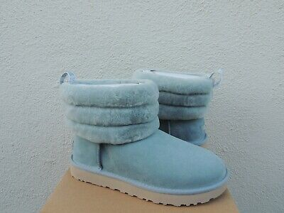 0b2160090e4 UGG CLASSIC FLUFF Mini Quilted Suede/ Sheepskin Boots, Women Us 8 ...