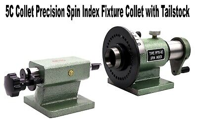5C Collet Precision Spin Index Fixture Collet for Lathe Milling Tool Tailstock