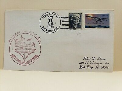 Campbell STAMPS**USA 1978 BATTLE OF THE CORAL SEA COVER