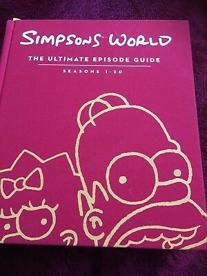 Simpsons World book - The ultimate episode guide season 1 - 20 huge