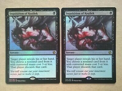 2 FOIL Inquisition of Kozilek Conspiracy Take the Crown MTG Magic the Gathering