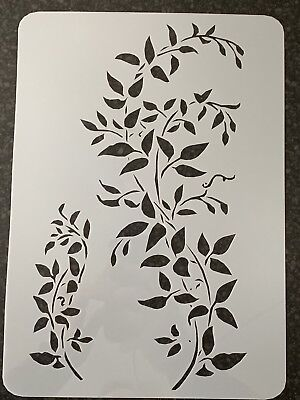 *Sale* FALLING LEAVES TREE Reusable Stencil A3 A4 A5 Romantic Shabby Chic T43