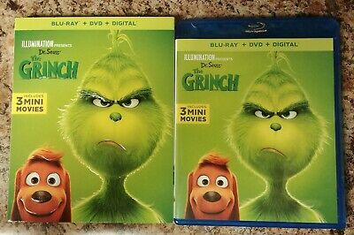 Dr. Seuss The Grinch (2018 Blu-Ray and DVD) - No Digital Copy