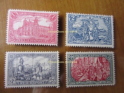 "EBS Germany 1900 ""Images of the German Empire"" set Michel 63-66 REPRINTS"