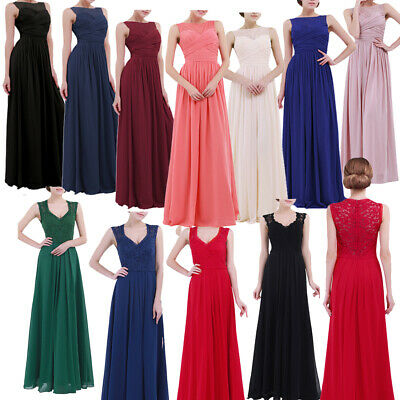 Women Long Evening Formal Party Cocktail Maxi Dress Bridesmaid Prom Ball Gowns