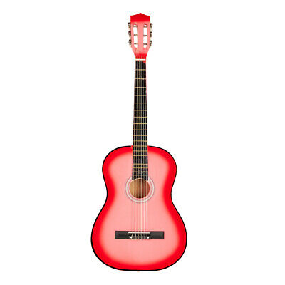 "Acoustic Classic Guitar 38"" For Beginners Student/Adults 6 Strings Pink &Pick US"