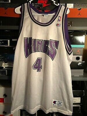 fadada1bddd Vintage Champion Chris Webber Sacramento Kings White NBA Jersey Size 48 XL