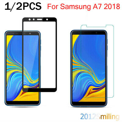 2x For Samsung Galaxy A7 2018 A750 3D Full Cover Tempered Glass Screen Protector