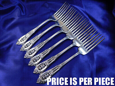 Wallace Rose Point Sterling Silver Place Fork - Very Good Condition