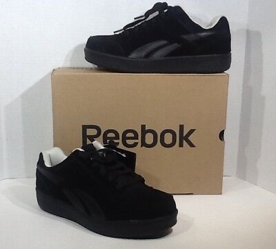 eb0b03c8564 Reebok Work Soyay RB1910 Mens Size 8 Black Skate Style EH Safety Shoes  ZY-157