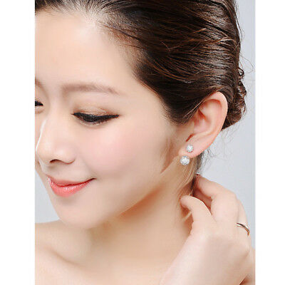 Crystal Delicate Ball Shape Earrings Girl Korean Style Ear Stud Women Jewelry CS